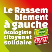 Logo du Rassemblement à gauche écologiste citoyen et solidaire